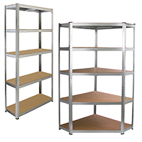 Shelf rack, Corner shelving rack with 5 shelves